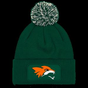 демон лисица шапка с понпон зелена